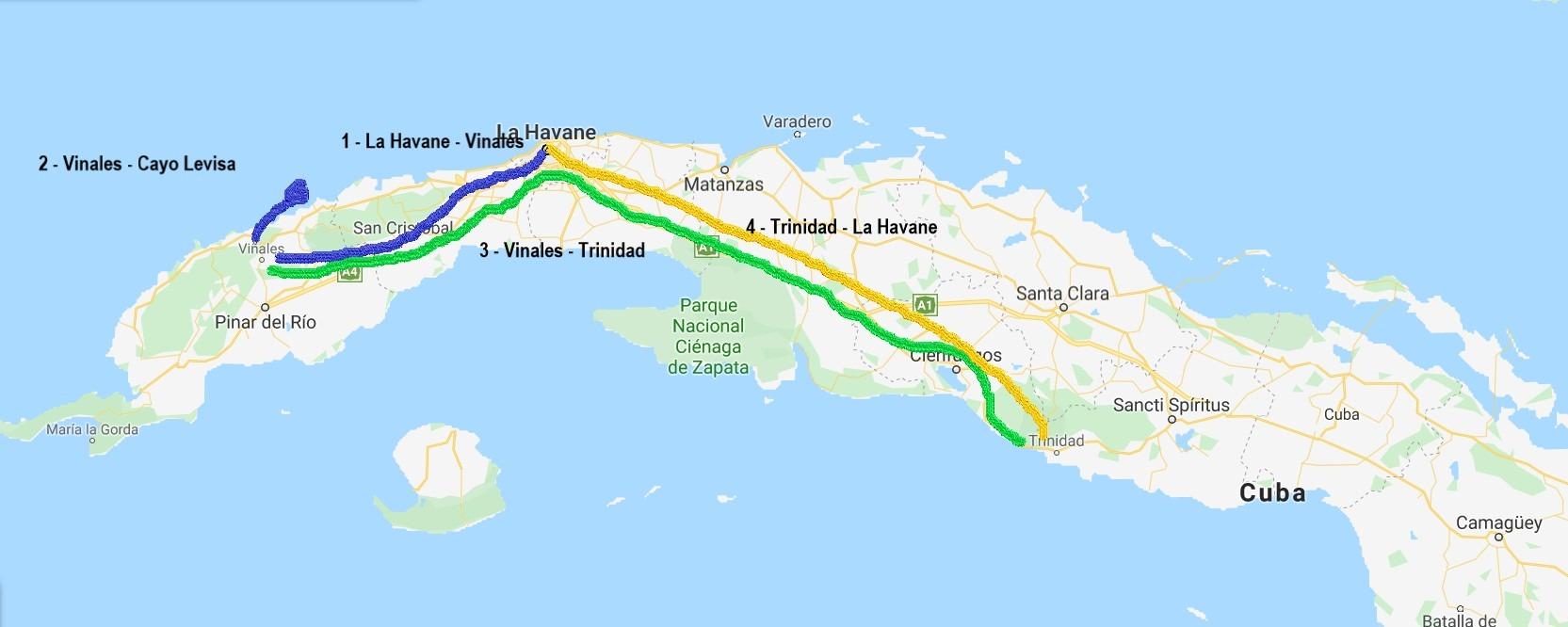 Itinéraire Cuba 2 semaines