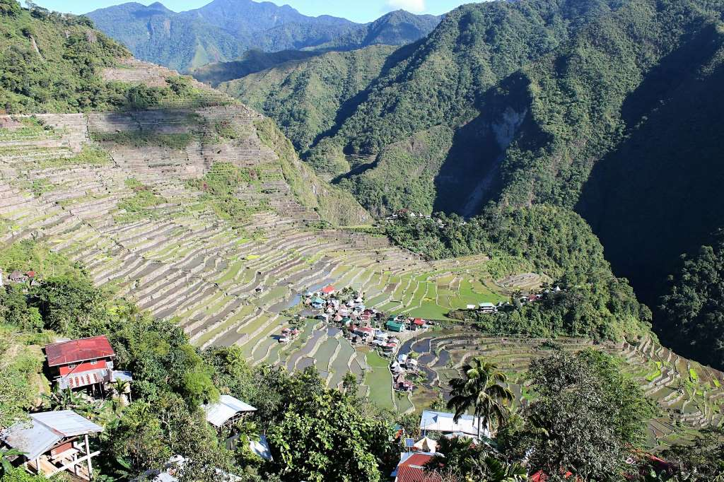 Village rizières terrasses Banaue
