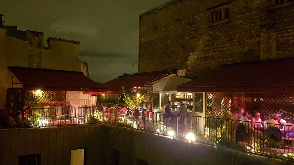 Terrasse de l'hôtel Grands Boulevards